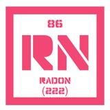 Chemisches Element des Radons Stockfotos