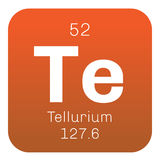 Chemisches Element des Tellurs Lizenzfreie Stockfotografie