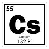 Chemisches Element des Zäsiums Stockbild