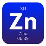 Chemisches Element des Zinks Lizenzfreies Stockfoto