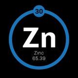 Chemisches Element des Zinks Stockfotos