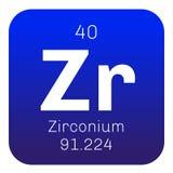Chemisches Element des Zirkoniums Lizenzfreie Stockfotos