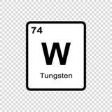 chemisches Element Wolfram vektor abbildung
