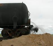 Chemisches Leck von einem Railcar Lizenzfreie Stockfotos