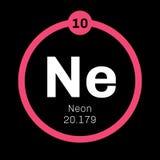 Chemisches Neonelement Stockfotos