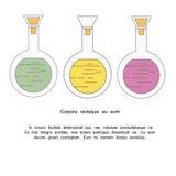 Chemisches Reagenzglas Stockfotos