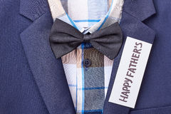 Chemise à carreaux avec le noeud papillon Image stock