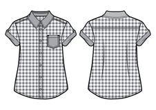 Chemise à carreaux d'été Images libres de droits