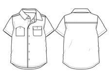 Chemise à manches courtes d'été illustration stock