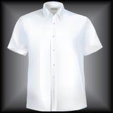 Chemise avec le collet et demi des chemises Photo stock