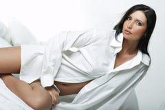 Chemise blanche de XXL photo stock