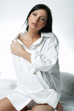 Chemise blanche de XXL image stock