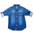 Chemise bleue de denim images stock