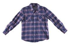 Chemise bleue et rouge d'isolement Image libre de droits