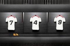 Chemise d'équipe de football images stock