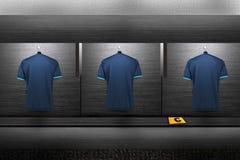 Chemise d'équipe de football Photos libres de droits