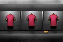 Chemise d'équipe de football photographie stock libre de droits