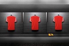 Chemise d'équipe de football images libres de droits