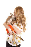 Chemise de baiser de tournesol de kangourou de femme Photos stock