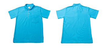 Chemise de polo bleue de couleur photo stock