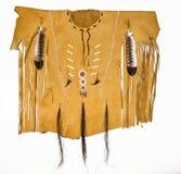 Chemise en cuir de Natif américain Images libres de droits