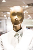 Chemise en plastique Sto de Clothes Button Up de modèle de forme de mannequin de mode image stock