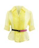 Chemise jaune Photo libre de droits