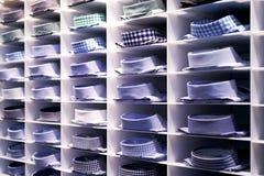 Chemises colorées pliées Photographie stock libre de droits