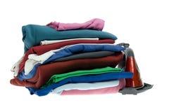 Chemises d'isolement de fer et de pile de vapeur Photographie stock libre de droits