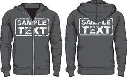 Chemises du hoodie des hommes Vues avant et arrières illustration stock