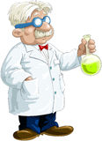 Chemist. With the flask in his hand, vector royalty free illustration
