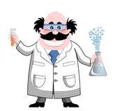 Chemist. Cartoon chemist isolated on white background. You can find other illustrations featuring this character in my portfolio royalty free illustration
