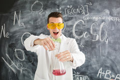 Chemist carries chemistry experiment in laboratory. Stock Images