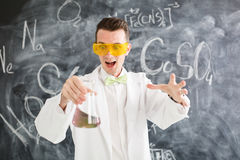 Chemist carries chemistry experiment in laboratory. Royalty Free Stock Photo