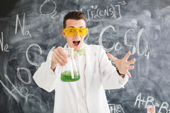 Chemist carries chemistry experiment in laboratory. Stock Image