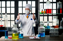 Chemist, chemistry, laboratory, man, science, experiment, flask, Royalty Free Stock Photo