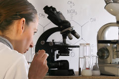 Chemist In Laboratory Royalty Free Stock Images