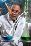 Chemist at laboratory royalty free stock photography