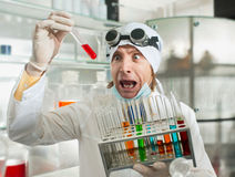 Chemist in the laboratory Royalty Free Stock Photo