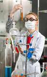 Chemist in the laboratory Stock Image