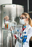 Chemist in the laboratory Stock Photography