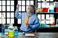 Chemist in the laboratory Stock Photo