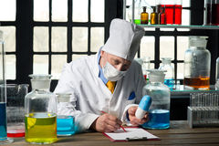 Chemist in the laboratory Royalty Free Stock Image