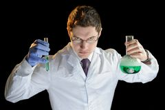 Chemist man Royalty Free Stock Image