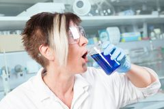 Chemist mistake Royalty Free Stock Photo