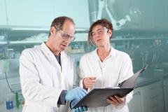 Chemist paper work Stock Images