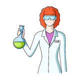 Chemist.Professions single icon in cartoon style vector symbol stock illustration web. Chemist.Professions single icon in cartoon style vector symbol stock stock illustration