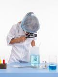 Chemist regards lather flask Stock Images