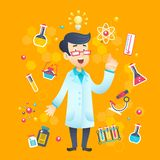 Chemist Scientist Character Stock Photo