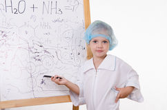 Chemist sketch scribble board with formulas Royalty Free Stock Photo